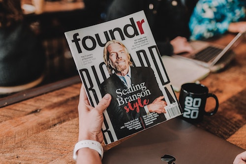 Foundr magazine cover Branson